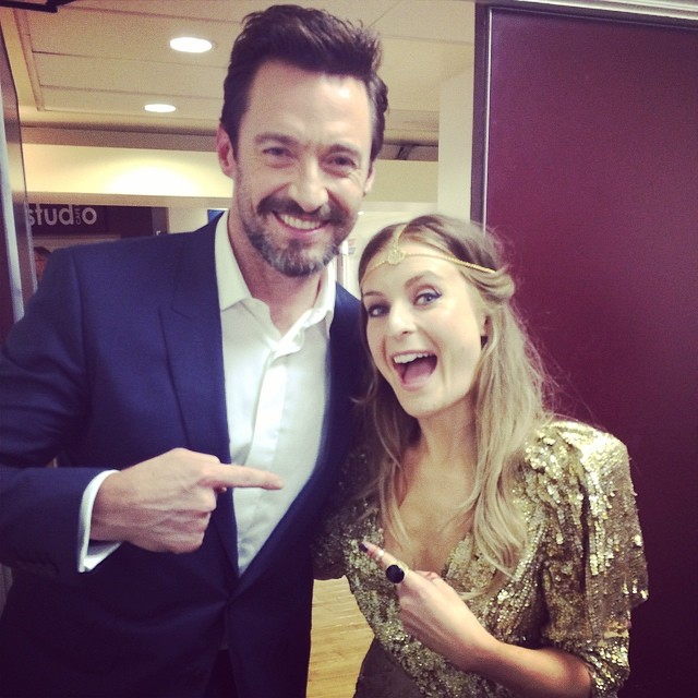 @mollysd . Hugh Jackman and Molly Smitten-Downes
