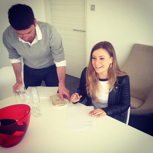 From MollySD Instagram. Molly Signing her Record Deal