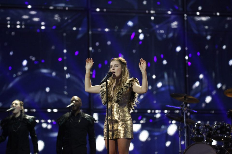 "Molly Smitten downes Singing ""Children of the Universe"" in Eurovision 2014."